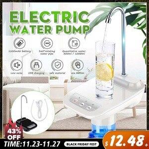 Upgrade Electric Water Dispenser Wireless Portable Electric Auto Water Pump Bucket Bottle Dispenser USB Rechargeable Water Pump