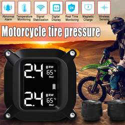 720 Mah Waterdichte Motorfiets Real Time Bandenspanningscontrolesysteem Tpms Draadloze Lcd Display Interne Of Externe Sensoren
