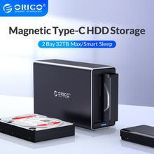 ORICO NS סדרת 3.5 2 מפרץ סוג C HDD עגינה תחנת תמיכה 32TB USB3.1 5Gbps UASP HDD מקרה עם 12V4A מתאם HDD מארז
