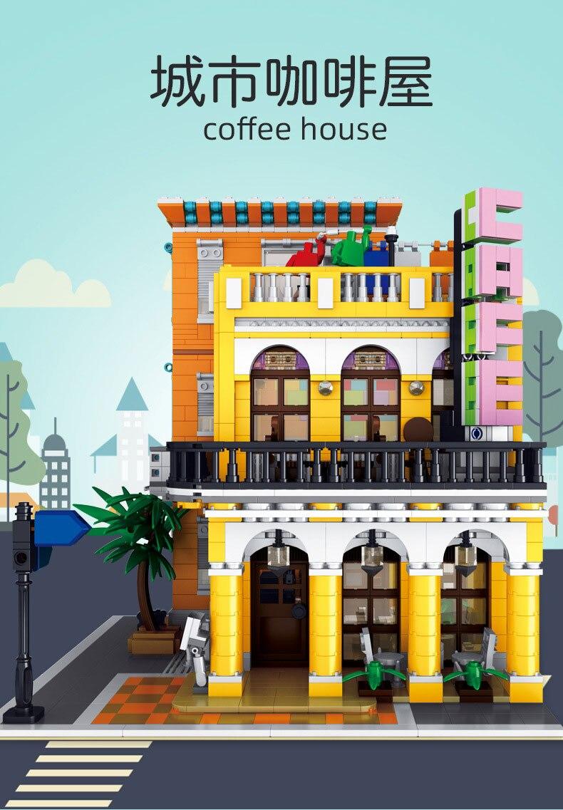 o café havana brilhando modelo blocos de