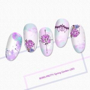 Image 2 - GEBOREN ZIEMLICH Mandala Serie Nagel Stanzen Platten Blumen Rechteck Nail art Bild Schablone Thema Vorlage