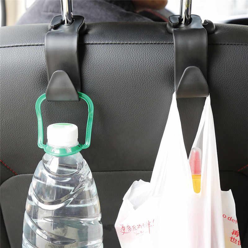 ユニバーサルフック車のアクセサリーインテリアポータブルハンガーホルダー収納のために車バッグ財布の布装飾ドロップシップ