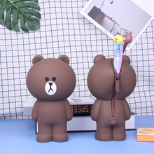 Cartoon Silicone Key Wallets Pencil Case Container Bags Kawaii Cute Bear 3D Pencilcase School Supplies Stationery Gifts
