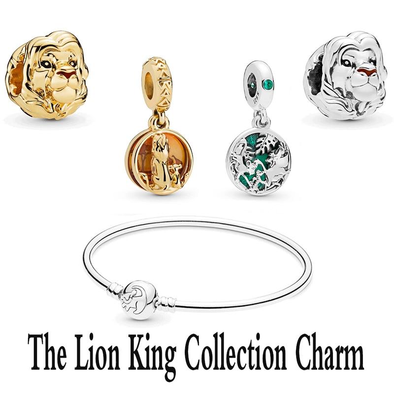 2020 Fashion High Quality New 925 Sterling Silver Lion King Jing Xiu Pendant Charm For Bracelet Diy Original Female Jewelry