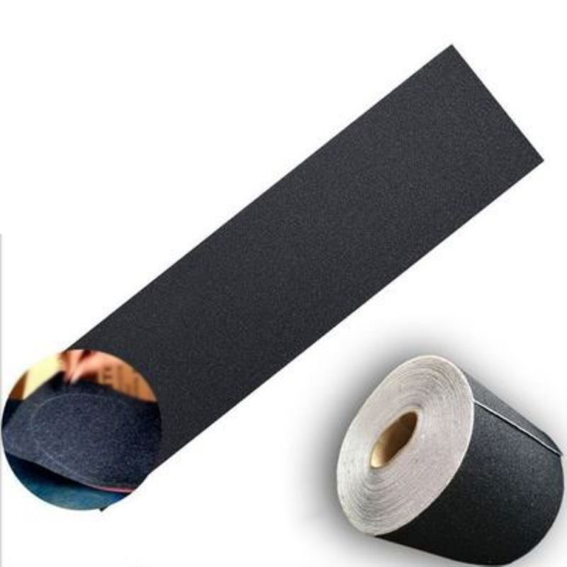 High Strength Waterproof Tear Resistance Skateboard Sandpaper Professional Black Skateboard Deck Sandpaper Grip Tape
