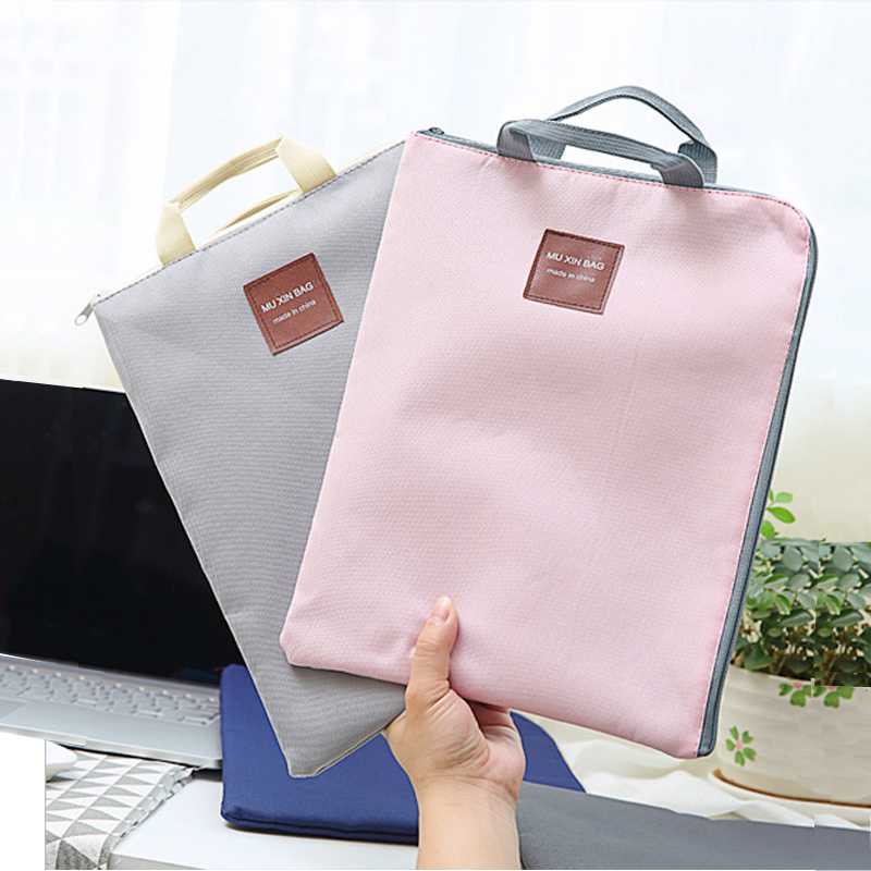 Office Supplies A4 Multi-function Canvas Zipper Multi-layer File Bag Portable Computer Bag Mobile Briefcase Organizer