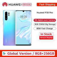 Global Version Huawei P30 Pro 8GB 256GB Kirin 980 Octa Core Smartphone 50x Digital Zoom Quad Camera 6.47'' Full Screen OLED NFC