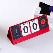 Calendario de escritorio de Cuenta Regresiva 2020, horario diario, papelería Vintage, bricolaje, Escuela de giro perpetuo, doble cara, hogar, oficina, estudiantes