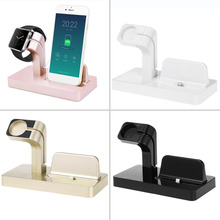 2 in 1 Charging Dock Charger Holder For iphone For IWatch For iPhone 6/6plus/6s/7plus For apple Watch Bracket Phone Charger Dock creative rainbow bridge charging stand bracket for iwatch aluminum alloy arc dock station charging cradle holder for apple watch