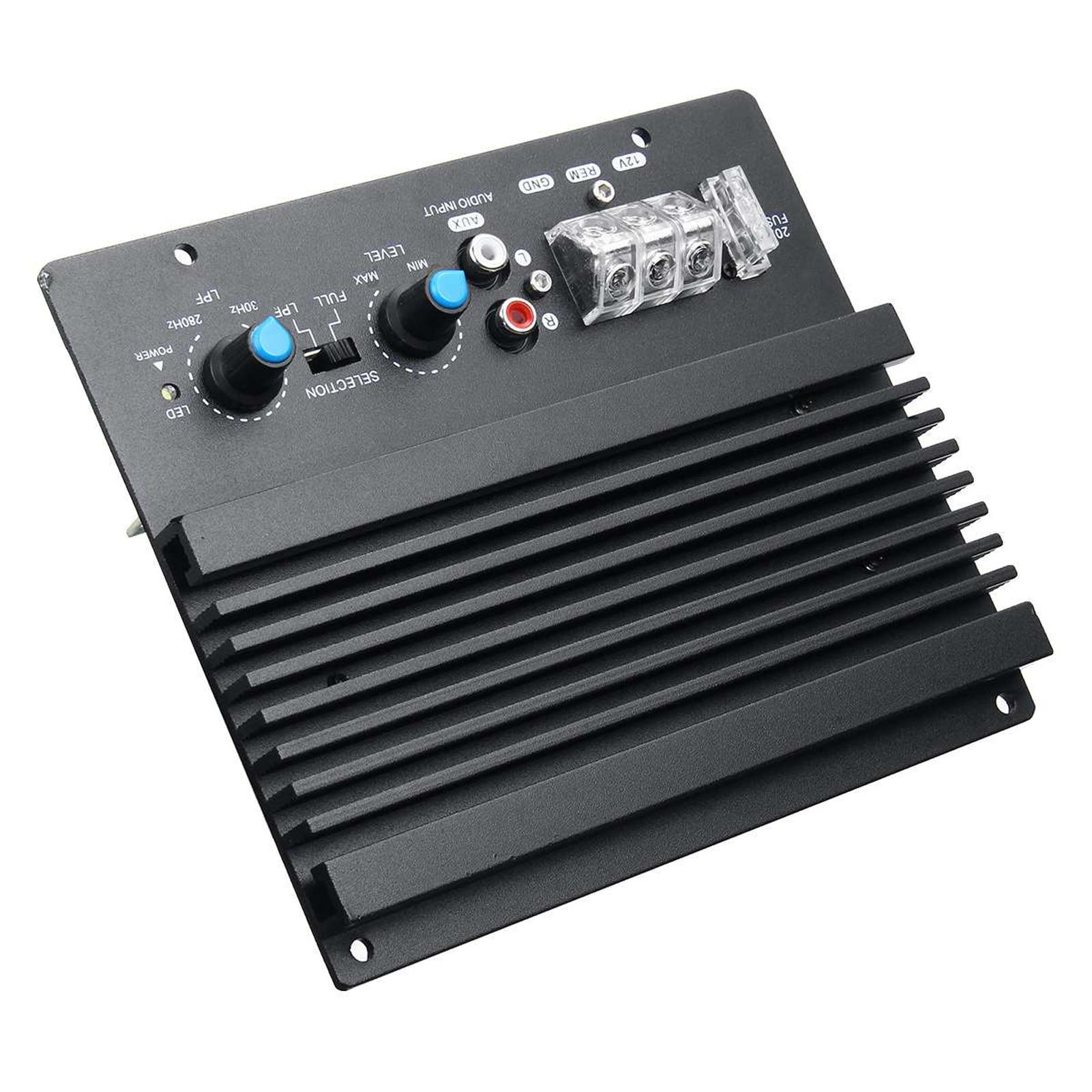 12V Large Power Car Audio Amplifier Powerful Bass Subwoofer Amplifier Board Automotive Amplifier Module 3D Crystal Power 200W
