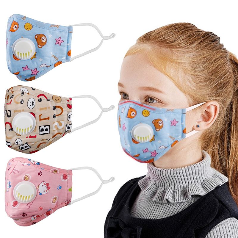 Washable Children Face Mouth Mask Cartoon Reusable Face Mask Dust Mask Children Kids Cute PM2.5 Dust Mask Face Mouth Cover