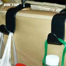 Gancho de asiento para el coche sujetador automático Clip reposacabezas colgador bolsa soporte para bolsa de tela para coche bolso almacenaje de alimentos Accesorios