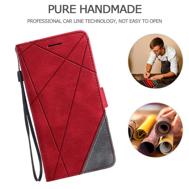 Leather Flip S7 S8 S9 Plus S10 S20 FE S21 Ultra Case For Samsung Galaxy A6 A7 A8 J6 2018 A5 J3 J5 J7 2017 Note 8 9 Wallet Cover 2