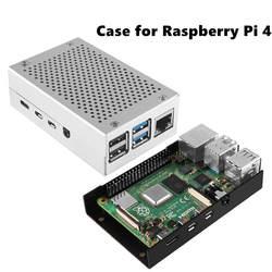 Последний Алюминиевый Чехол для Raspberry Pi 4 Модель B