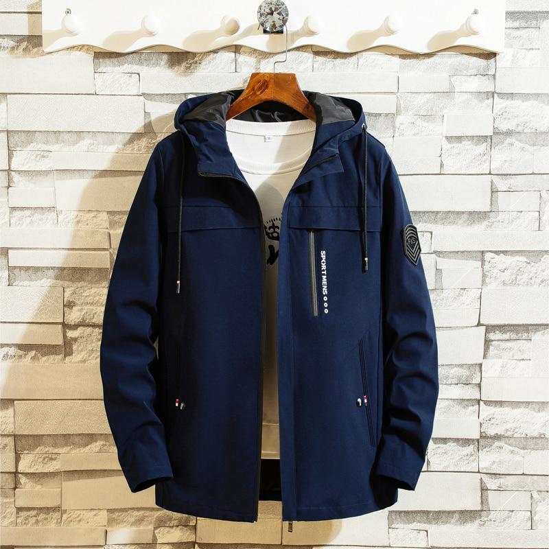 2019 Jacket Men Autumn Winter Hooded Korean Fashion Casual Streetwear Homme Clothings Ourterwear Plus Size M-4XL Brand Jackets