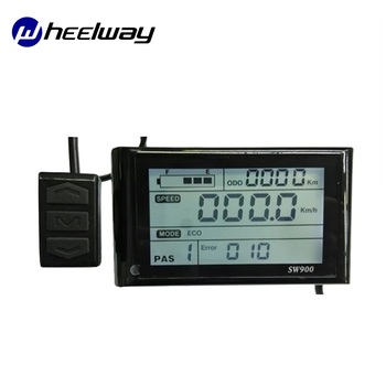 Pantalla LCD para Bicicleta eléctrica SW900, 24V, 36V, 48V, pantalla LCD