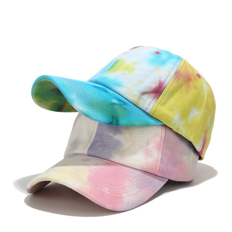 Colorful Tie Dye Cotton Women Baseball Caps Casual Adjustable Snapback Hat Caps Girls Femme Printing Hip Hop Gorras Para Hombre