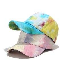 Colorful tie dye Cotton Women Baseball caps Casual Adjustabl