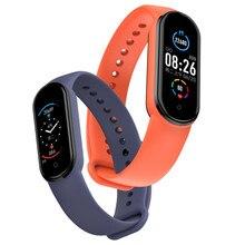 Bracelet connecté M5, moniteur de fréquence cardiaque, de pression artérielle et d'oxygène dans le sang, compteur de pas, exercices de respiration, étanche IP67