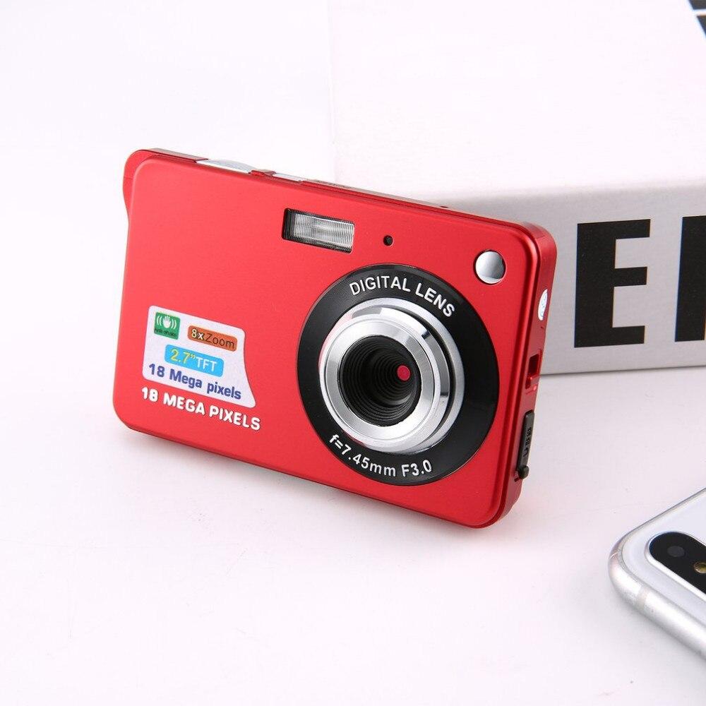 2.7 pouces Ultra-mince 18 MP HD caméra numérique caméra vidéo étudiant appareils photo numériques pour enfants meilleur cadeau