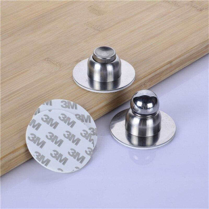 Vacclo Stainless Steel Sliver Magnetic Door Stopper Holder Noiseless Door Catch Holder Home Hardware For Bedroom Bathroom