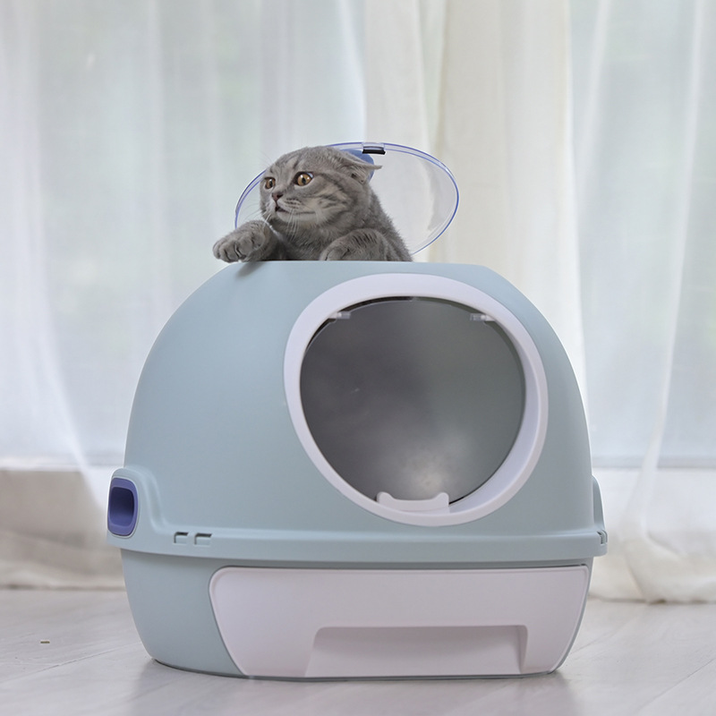 Cat Litter Box Fully Enclosed Cat Toilet with Automatic Purifier Deodorant and Splash-proof Large Sand Tub Pet Cat Supplies(China)