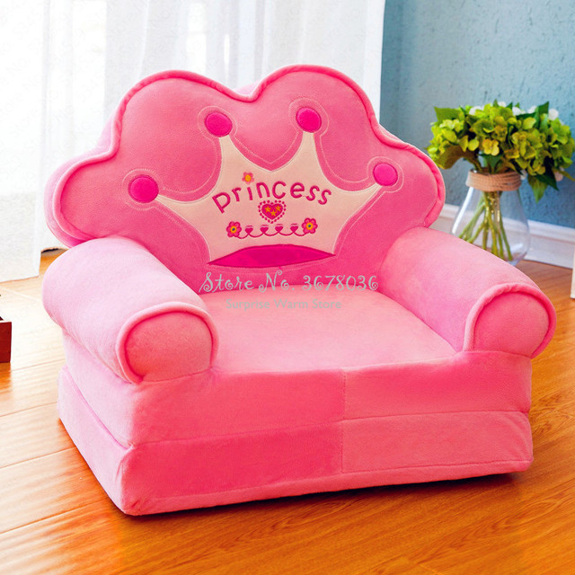 Cute Chair Fashion Children Sofa Folding Cartoon Stool for Children Kids Sofa Baby Stool Can Be Wash Washable Chair for Kids 2