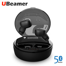 UBeamer M9 Bluetooth Earphones.True Wireless Waterproof Headset Microphone Noise Canceling Sport TWS Portable Media Player(China)
