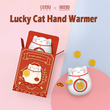 Lucky Cat Handwarmer Winter Heater Portable Mini Hand Warmer USB Mobile Power Charging Handy Warming Warm Baby Heater
