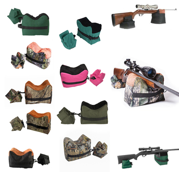 Unfilled Front Gun Rest Sand Bag Shooting Bench Rifle Steady Hunting Stand