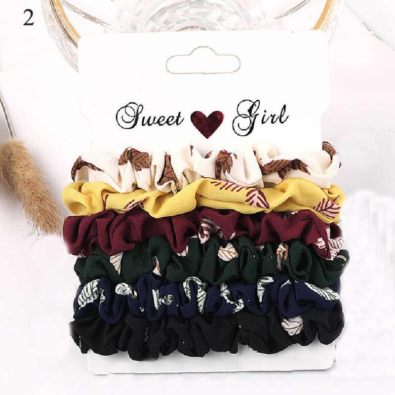 1 ชุด Scrunchies ผมแหวนลูกอมสีผมผูกเชือกฤดูใบไม้ร่วงฤดูหนาวผู้หญิงหางม้าผมอุปกรณ์เสริม 4-10Pcs หญิง Hairbands ของขวัญ