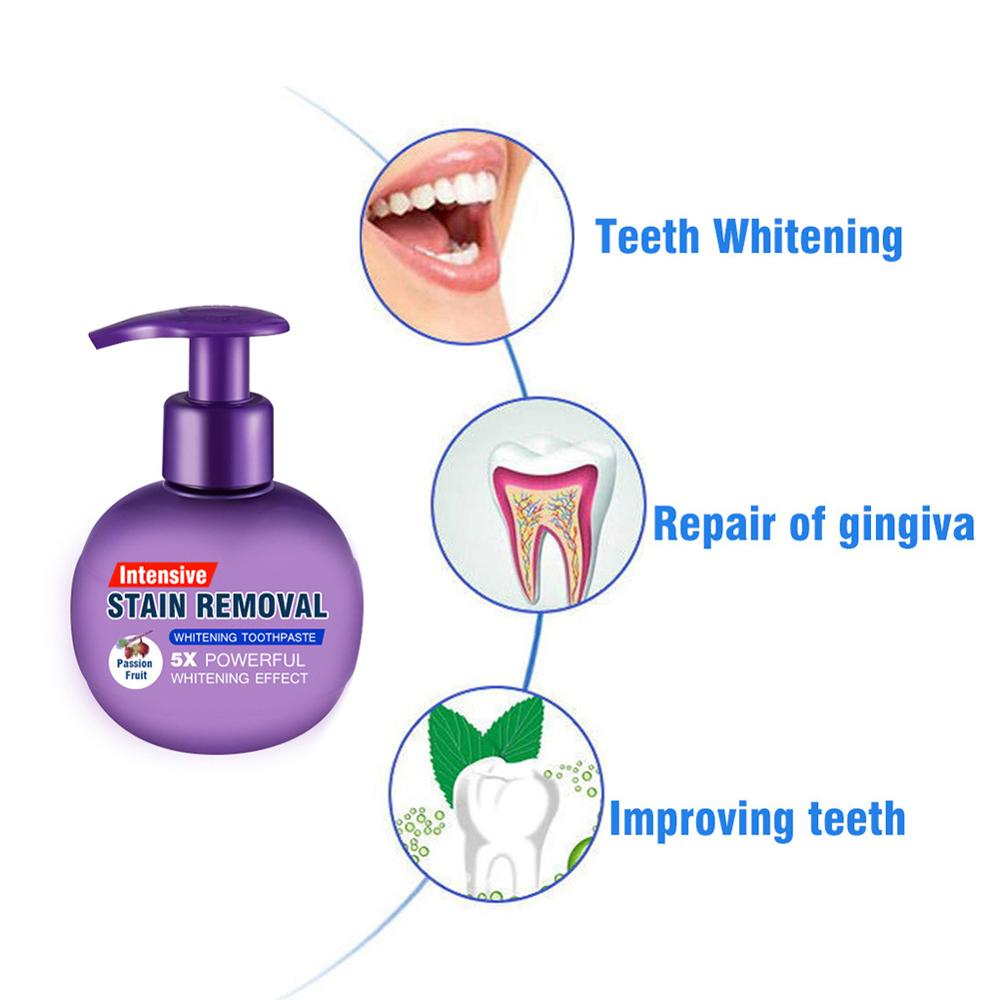 Toothpaste Whitening Teeth Toothpaste Stain Removal Whitening Toothpaste Fight Bleeding Gums Fresh Blueberry Bottled Toothpaste