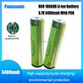 Panasonic 100% оригинал Защищенный 18650 NCR18650B 3,7 V перезаряжаемая литий-ионная батарея с 3400mAh для вспышек + PCB