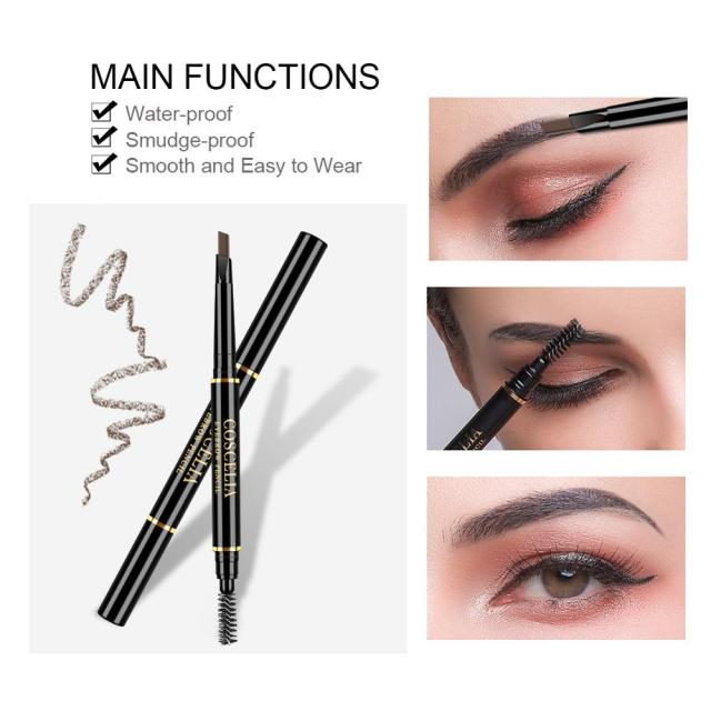 Eyebrow Pencil With Brush Double Ended Eyebrow Pen Waterproof Lasting Brow Tattoo Pen Eye Makeup Pencil Eyebrow Enhancer Pen 2