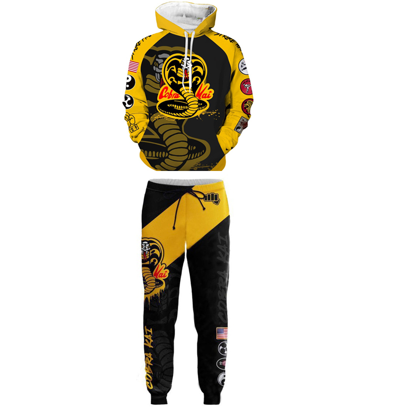 US Cobra Kai Karate Kid 3D Print Casual Sweatshirt Men Women Hoodie Zip Up Tops