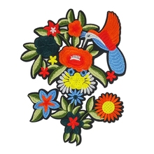Flowers Birds Embroidered Badge Iron on Sew on Patch for Clothes Jackets Jeans Backpack Caps