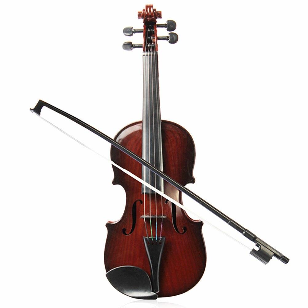 Simulation Violin Musical Toy Bow Beginner Kids Instrument Practice Color Random FKU66