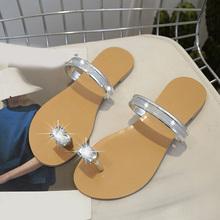 2020 nowości damskie kapcie kryształowe modne damskie klapki damskie buty plażowe damskie płaskie buty Casual damskie sandały tanie tanio LLYGE CN (pochodzenie) RUBBER Mieszkanie (≤1cm) 0-3 cm Pasuje prawda na wymiar weź swój normalny rozmiar HFD3210 FLIP FLOPS