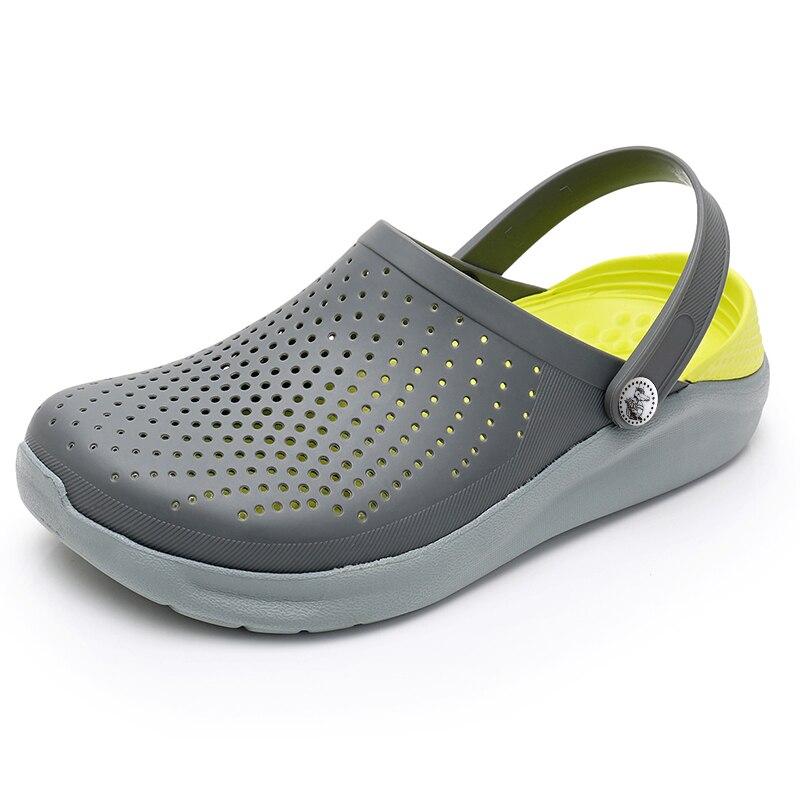 陶製つぼ靴男性メンズ靴 Crocse サンダル Sandalias 夏の靴 Sandalen スリッパ Sandalet hombre Sandali ワニ下駄新しい 2019