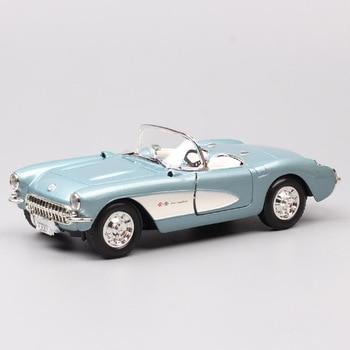 цена на 1/24 Scale classic old GM Chevrolet Corvette C1 Vette StingRay 1957 Die casts Vehicles model thumbnails wheels for children toys