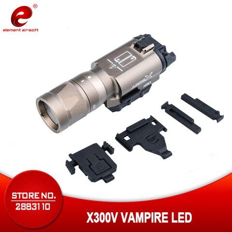 elemento airsoft tatico luz surefir x300 lanterna 220 lm lampada de caca surefir x300v arma