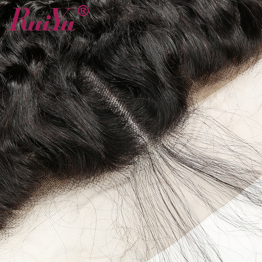 Brazilian Deep Wave Bundles With Frontal Closure 13x4 Lace Frontal With Bundles Human Hair 3 Bundles With Closure RUIYU Remy