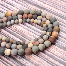 Hot?Sale?Natural?Stone?Matte Drawing15.5?Pick?Size?4/6/8/10mm?fit?Diy?Charms?Beads?Jewelry?Making?Accessories