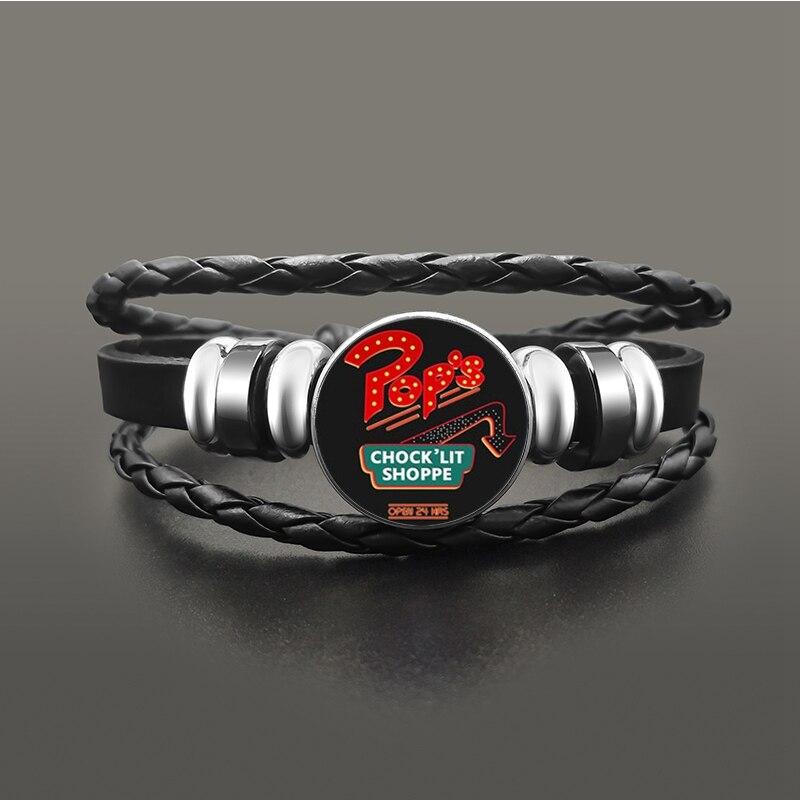 TV-Riverdale-South-Side-Serpents-Black-Leather-Bracelet-Jeweley-Glass-Dome-Button-Snaps-Bracelets-Punk-Wristband (5)