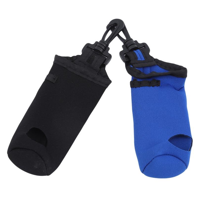 Pequeña bolsa para pelota de Golf de neopreno portátil soporte de Tee bolsa de almacenamiento con cinturón giratorio Agarre del palo de Golf Universal antideslizante Grips Wrap accesorios de entrenamiento para palos de Golf de hierro palos de madera