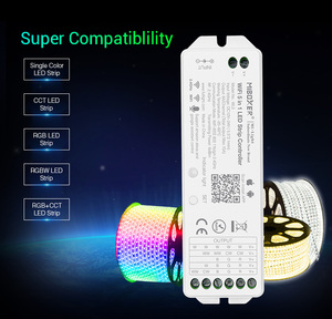 Image 2 - Miboxer wl5 2.4g 5 em 1 wifi led controlador para a única cor cct rgb rgbw rgb + cct led strip suporte amazon alexa controle de voz