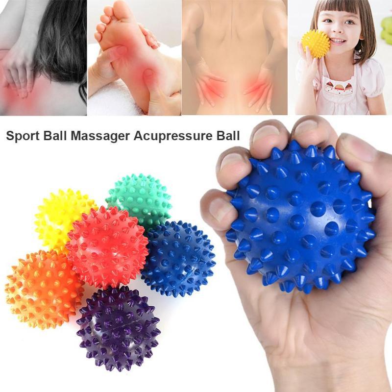 1pc PVC Spiky Massage Ball Trigger Point Sport Fitness Hand Foot Pain Stress Relief Plantar Muscle Relax Ball Massager