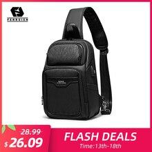 Fenruien , новинка 2020, сумка мужская на плечо, многофункциональные, USB зарядка, водонепроницаемые сумки через плечо для мужчин, короткие, для путешествий, нагрудная сумка , упаковка