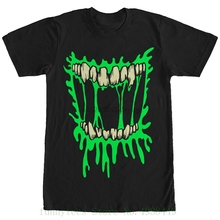Lost Gods Halloween Zombie Smile Mens Graphic T Shirt Print T-shirt Summer Casual