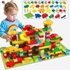 Bloques de construcción de carreras de canicas para niños, bloque pequeño, Compatible, embudo, Tobogán, bloques, juguetes, regalo
